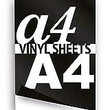 Noir Format A4297x 210mm 3x Hot Flex Fer Sur le papier de transfert de vinyle Vêtements