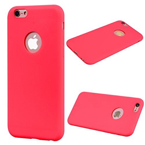 hone 6 Plus / 6S Plus (5,5 Zoll) Handy Hülle Einfarbig Rot. Weich TPU Silikon Case (Disney Princess Verrückt)