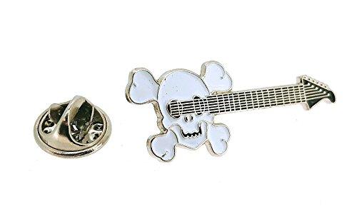 Gemelolandia Pin de Solapa Guitarra Eléctrica con Calavera