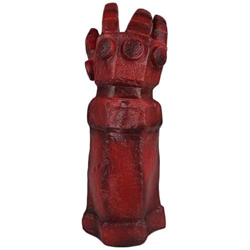 QQWE Hellboy Handschuhe Arm Cosplay Film Rollenspiele Requisiten Spiel Halloween Weihnachten Performance Latexhandschuhe,A-OneSize