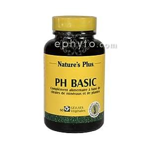Nature s plus - Ph basic - 60 gélules - Corrige l'excès d'acidité