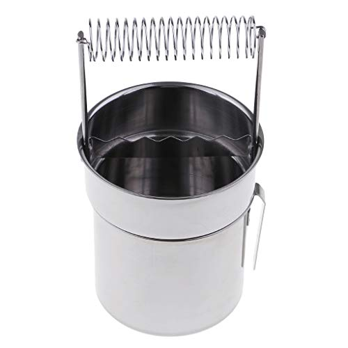 NYLSA Stainless Steel Painting Brush Washing Bucket Wash Pen Barrel Cup Wash Brush Pot Oil Paint Brush Washer Cleaner with Screen & Spring Holder Tools
