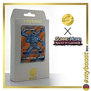 Machomei-GX (Machamp-GX) 135/147 Full Art - #myboost X Sonne & Mond 3 Nacht in Flammen - Box de 10 Cartas Pokémon Aleman