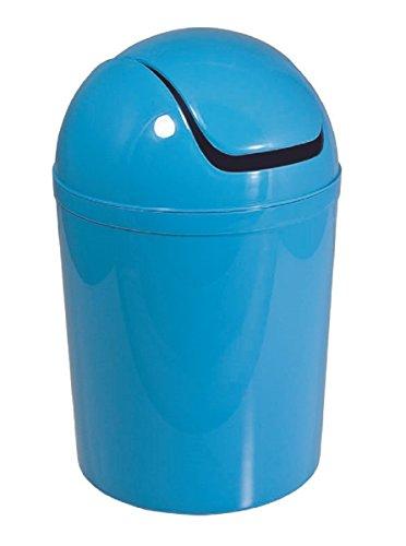 Carpemodo Kosmetikeimer mit Schwingdeckel 5,5 l Volumen Blau