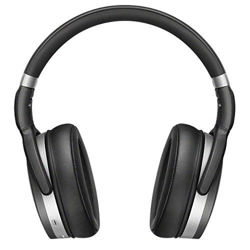 Sennheiser HD 4.50BTNC - Auriculares inalámbricos de Parte Trasera Cerrada con cancelación de Ruido, Color Negro y Plata