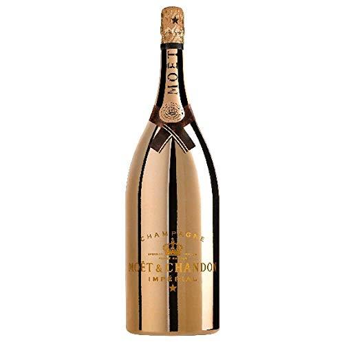 Moët & Chandon Impérial Bright Night Edition Goldfarbene Magnum Champagner Flasche mit LED Licht Beleuchtung (1 x 1.5 l)