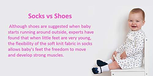 Baby Emporio 6 pares de calcetines para bebé niña - Suelas antideslizantes - Algodón suave - Paquete de regalo - Efecto… 3