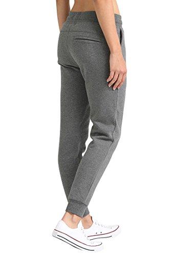 DESIRES Derby Damen Sweat Pant Relaxed Hose Freizeithose Joggighose aus hochwertiger Baumwollmischung Meliert Grey Melange (8236)