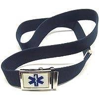 Cintura nastro in canapa 2V79 con fibbia Soccorso Sanitario Croce Esculapio