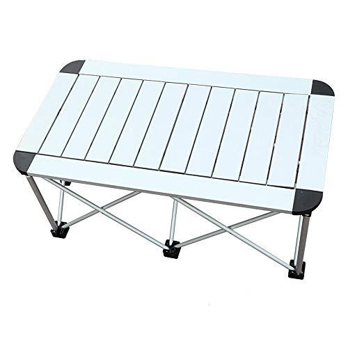 CHENGGUO Table Pliante en Aluminium portative extérieure, Table rectangulaire de Table à Manger Table de Camping Pliable Barbecue de Camping Portable, Table Pliante portative