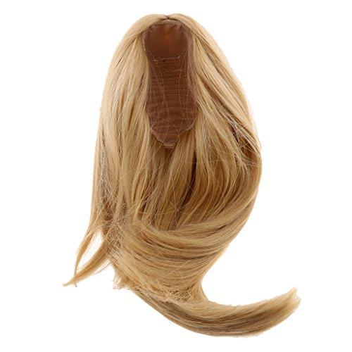 Sharplace 28cm Hochwertige Puppen Perücke Lang glattes Haarteil Für 18 Zoll American Girl Puppe Zubehör - # 17