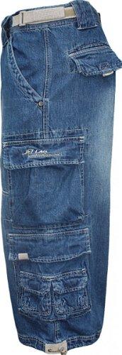 JET LAG Cargo Shorts 3/4 Hose Modell 007 S Blau