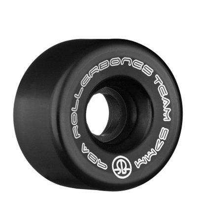 Rollerbones Team Logo Derby Räder 98A Recreational Roller Skate Rollen (8Stück), schwarz -