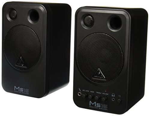 Behringer MS 16 - Monitores de estudio (16 W, 80 Hz - 20 kHz), color negro