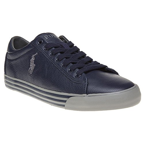 Polo Ralph Lauren chaussures baskets sneakers homme en cuir harvey blu