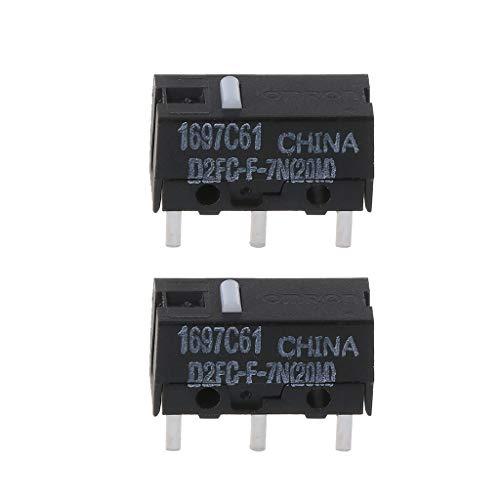 Gjyia 2Pcs Original OMRON Maus Mikroschalter D2FC-F-7N 20m für Logitech Razer Wie Bilder Zeigen Einheitsgröße