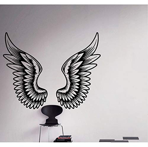 Lvabc Angel Wings Wall Decal Schöne Federn Vinyl Aufkleber Home Decor Ideen Schlafzimmer Innenwand Kunst (Fake Angel Wings)
