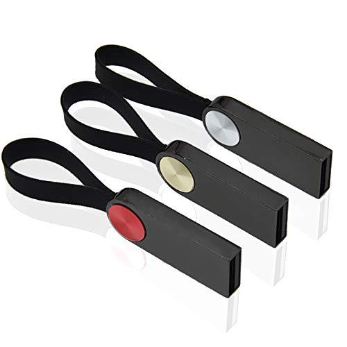 Pendrive 1GB 3 Piezas Metal Llavero Memorias Flash USB 2.0 Kepmem Mini Llave Almacenamiento de Datos Memoria Externa Regalo para Computadora