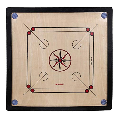 """Wooden Carrom Board (Black) with Coins 20""""Inch"""