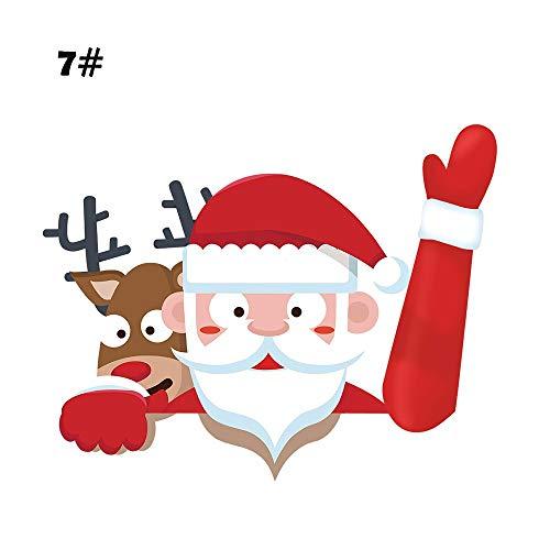 MENGZHEN 1 UNID Joy Riders Tema de Navidad de Papá Noel que agita EL parabrisas Limpiaparabrisas Decoración del coche de Navidad