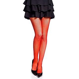 Romartex trendy feinmaschige Netzstrumpfhose in 13 Farben, M/L, rot
