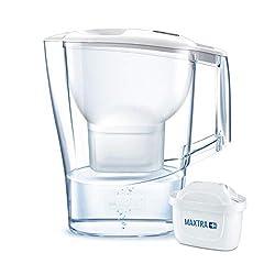 BRITA Wasserfilter Aluna weiß inkl. 1 MAXTRA+ Filterkartusche - robuster BRITA Filter zur Reduzierung von Kalk und Chlor und im Leitungswasser