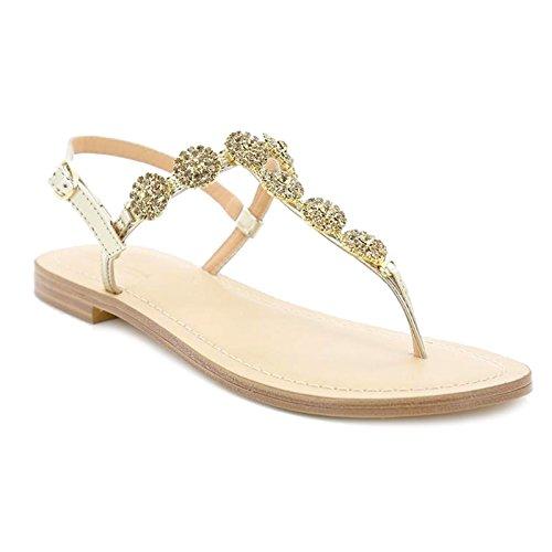Toocool - Scarpe Donna Sandali Infradito Gioiello Strass Ciabatte Flat Queen Helena 6002 [36,Oro]
