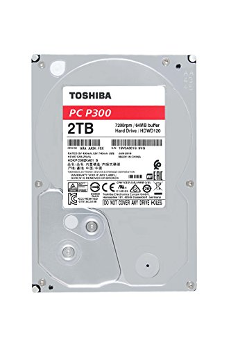 """TOSHIBA P300 Disco duro interno 2 TB – 3,5"""" (pulgadas) – Disco duro SATA (HDD) – 7200 RPM – 6 GB/s – Para juegos, ordenadores, equipos de escritorio, estaciones de trabajo y más"""