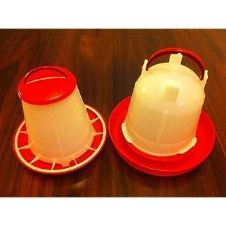 Wells Poultry Equipment - 1 kg eco Plastic feeder 1.5 litre eco plastic drinker set 7
