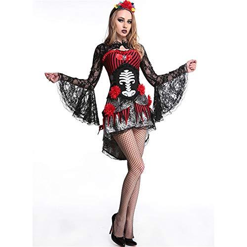 (Baby Dolls & Negligees Für Damenfrauen Halloween Costume_Halloween Kostüm Charakter Sexy Muster Geist Braut Appeal Set, Schwarz, Eine Größe)