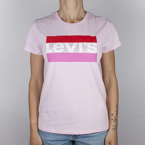 69299aa59f16bb Levi's The Perfect Tee T-Shirt, Rosa (Sptwr Logo Color Pink Lady 0723