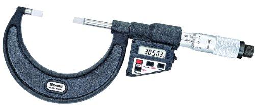 Starrett 786Mep-75LCD Blade-type Micromètre, absence Spindle, UNI Dé à Coudre, 50–75mm Gamme, graduation 0,001mm