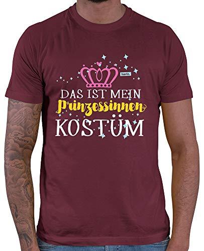 HARIZ  Herren T-Shirt Das Ist Mein Prinzessinnen Kostüm Karneval Kostüm Inkl. Geschenk Karte Wein Rot M