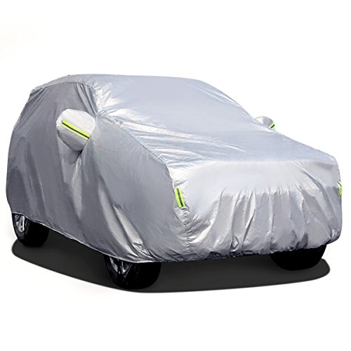 MATCC Funda Exterior del Coche Lona Coche Exterior Cubierta de Coche Impermeable Resistente al Polvo, Lluvia, Rasguño y Nieve para SUV(485*190*185cm)