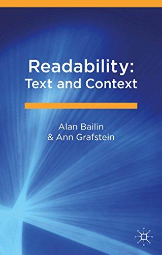 Readability: Text and Context (English Edition) por Alan Bailin