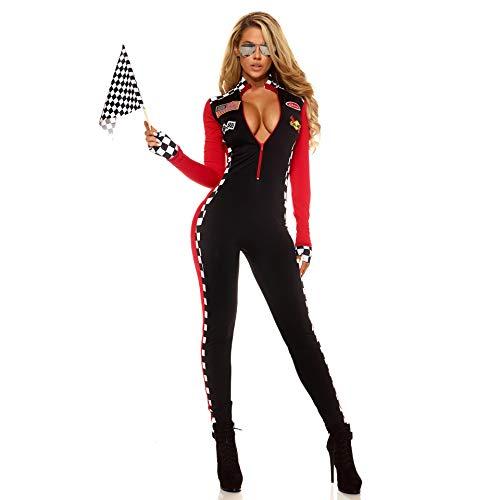 LBFKJ Rollenspiele, Halloween Party Spiel Uniform, Rennfahrer Anzug Cheerleader Kostüm, Motorrad Anzug ()