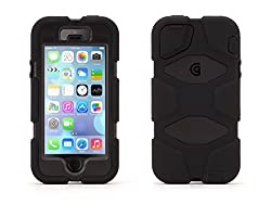 Griffin Black/Black Survivor All-Terrain Rugged Case Plus Belt Clip for iPhone 5/5s, iPhone SE
