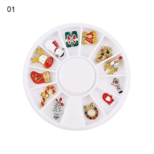 Weihnachten Muster Nagel Sticker set, Weihnachten Schneeflocke Bell Nagelkunst Aufkleber DIY Design Nailart TipsPhone Case/Karten Deko - Dekorationen Nagelsticker ()
