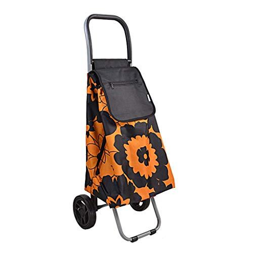 DX Lebensmitteleinkaufswagen, tragbarer Trolleywagen Kleiner Einkaufswagen zum Ziehen Faltbarer Trolley, Auf den Boden Klettern, um einen Lebensmittelwagen zu kaufen A + (Farbe: C)