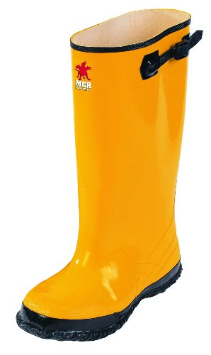 MCR Safety BYR10015 Waterproof Rubber Slush Boot with Cleated Outsole, Yellow, Size 15, 1-Pair by MCR Safety