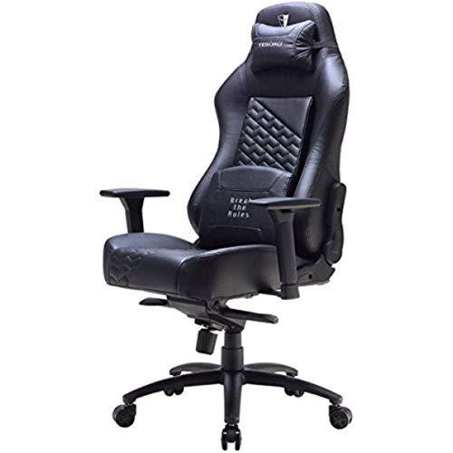Tesoro F730 Zone Evolution Gaming Stuhl Bürostuhl mit Kunstlederbezug Schwarz/Black -