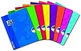 Oxford OpenFlex Lot de 10 Cahiers Petits carreaux 5 x 5 96 pages 17 x 22 cm Couleurs Assorties