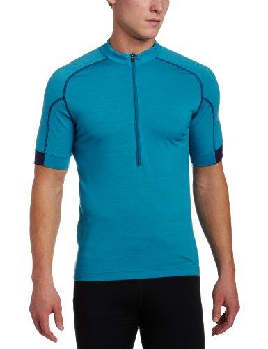 Ibex Outdoor Bekleidung Herren Indie Short Sleeve Radfahren Jersey, Herren, Neptune (Ibex-wolle-jersey)