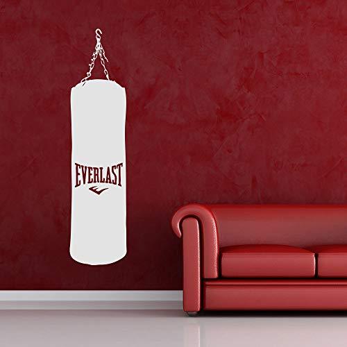 wukongsun Boxsack Vinyl Wandaufkleber und Kette Fitness Boxing Wandaufkleber Sport Gym Deko Kunst Tapete weiß 21X88cm