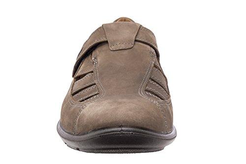 Jomos - 305201 - Schuhe Leder Schwarz mit Klettverschluss Asphalt