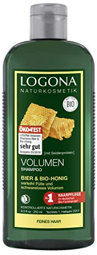 LOGONA Naturkosmetik Volumen Shampoo Bier & Bio-Honig,...