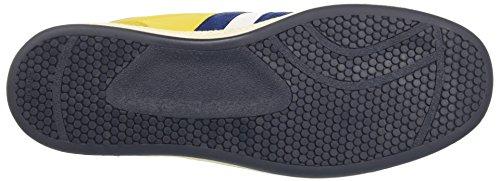 D'Acquasparta Ghiberti, Sneaker a Collo Basso Uomo Giallo (Giallo/Blu)
