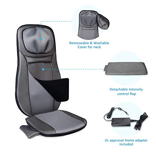 SNAILAX Shiatsu Massage Chair Back Massage Cushion with Heat Function - Massage Seat for neck and back massage for the home office