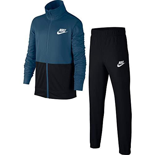 Nike B NSW Track Poly Chándal, Niños, Azul (Blue Force/Black/White), L