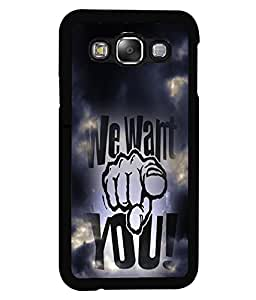 PrintVisa Metal Printed Quotes Designer Back Case Cover for Samsung Galaxy E5-D4943